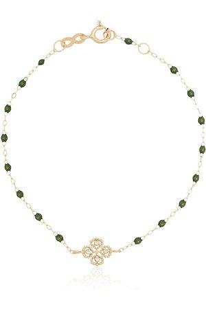 GIGI CLOZEAU 18kt yellow gold beaded diamond bracelet