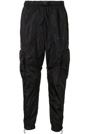 OFF-WHITE ARROW PARACHUTE CARGO PANT BLACK BLACK