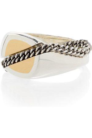 M. COHEN 18kt white gold signet ring