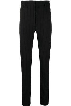 ANN DEMEULEMEESTER Fine knit striped skinny trousers