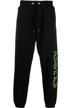 Palm Angels Logo print loose-fit track pants