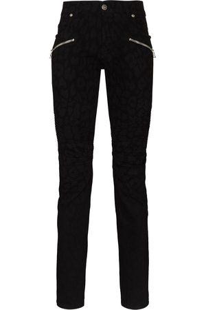 Balmain Leopard-print skinny jeans