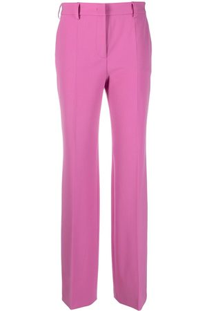 Alberta Ferretti Mid-rise gathered tailored trousers