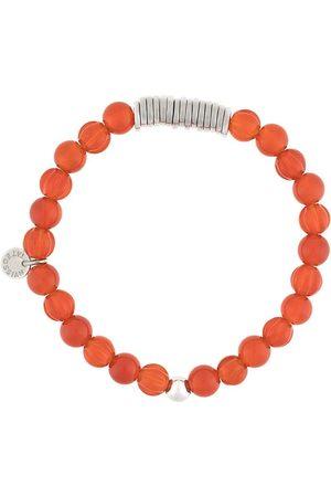 Tateossian Beaded logo-disc bracelet