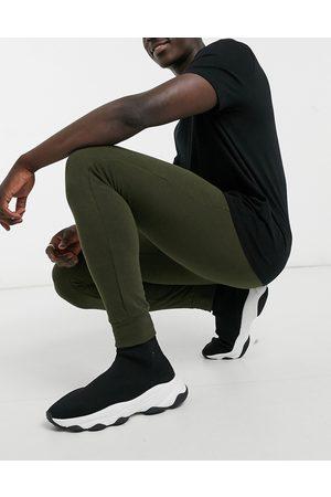 Brave Soul Muži Úzké nohavice - Skinny jogger in khaki-Green