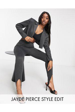 ASOS Jersey ponte super model skinny stirrup suit trouser in charcoal-Grey