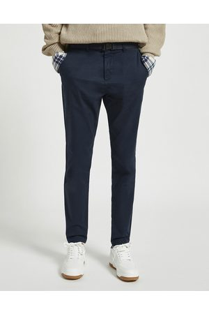 Pull&Bear Skinny smart chinos in navy