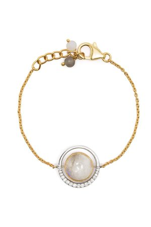 AKANSHA SETHI 14kt yellow gold diamond reversible Cloud bracelet