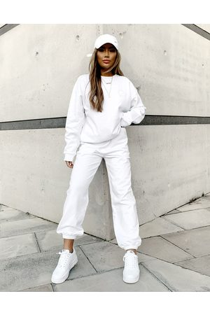 Weekend Collective Ženy Tepláky - ASOS co-ord oversized jogger with logo in white