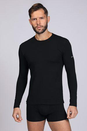 Enrico coveri Muži S dlouhým rukávem - Černé tričko s dlouhým rukávem