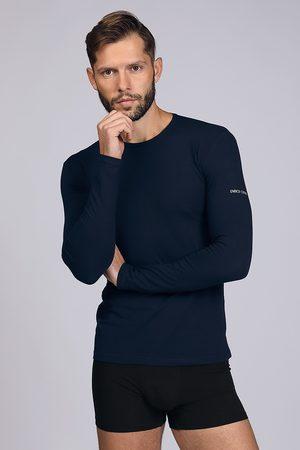 Enrico coveri Tmavěmodré tričko s dlouhým rukávem