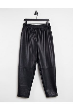 ASOS Leather look jogger-Black