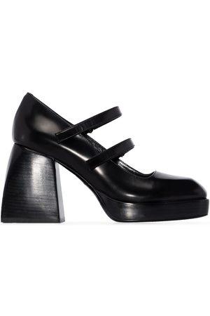 NODALETO Block 85mm heel Mary Jane pumps