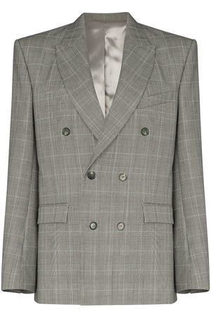 WARDROBE.NYC Double-breasted Prince of Wales check jacket