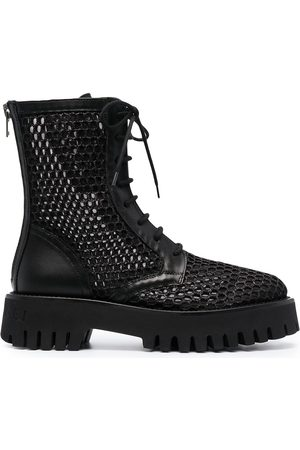 Casadei Mesh lace-up boots
