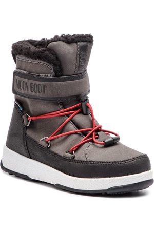 Moon Boot Sněhule - Jr Boy Boot Wp 34051600002 Black/Castleroc