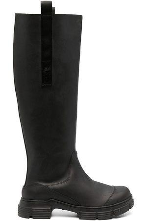 Ganni Pull-on knee boots