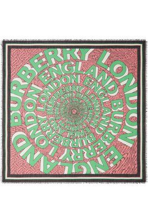 Burberry Logo-print large square scarf