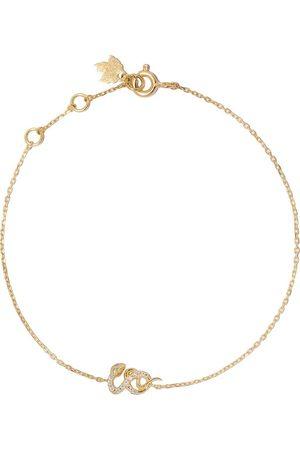 Feidt Paris 18kt yellow gold diamond snake bracelet