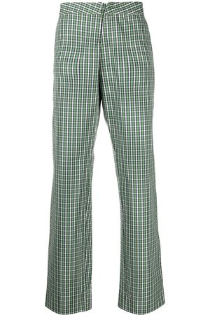 WALTER VAN BEIRENDONCK Royal gingham check straight-leg trousers