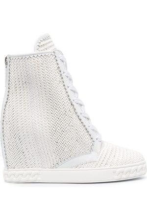 Casadei Ženy Šněrovací - Woven lace-up wedge boots