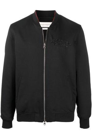 Alexander McQueen Embroidered-logo bomber jacket