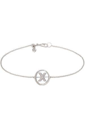 ANNOUSHKA 18ct White Gold Diamond Initial X Bracelet