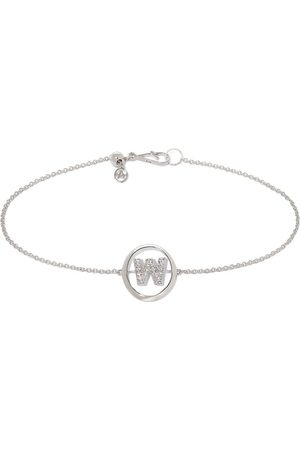 ANNOUSHKA 18kt white gold diamond Initial W bracelet