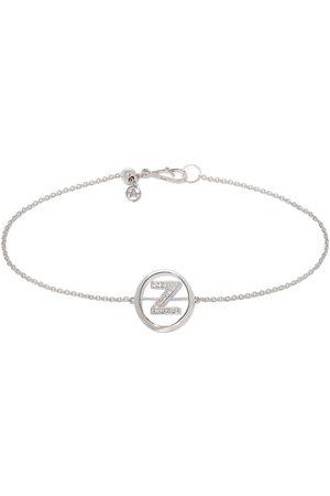 ANNOUSHKA 18ct White Gold Diamond Initial Z Bracelet