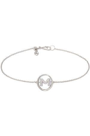 ANNOUSHKA 18ct White Gold Diamond Initial M Bracelet