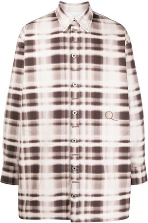 QASIMI Oversize check print shirt