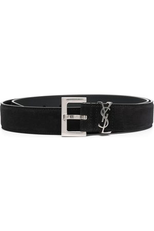Saint Laurent Logo plaque belt
