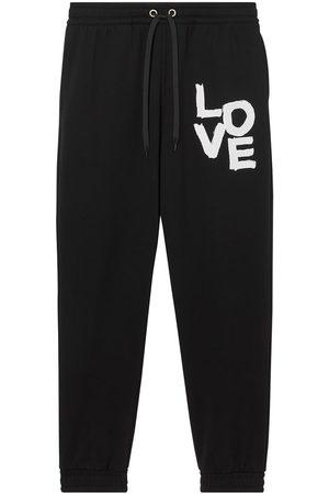 Burberry Love-print track pants