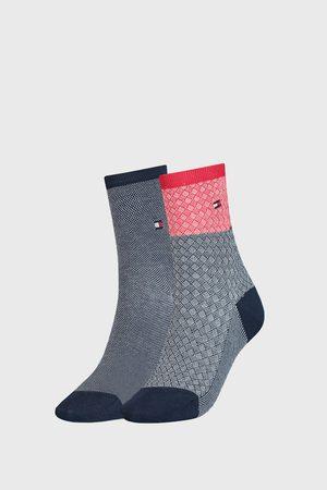 Tommy Hilfiger 2 PACK dámských ponožek Argyle III