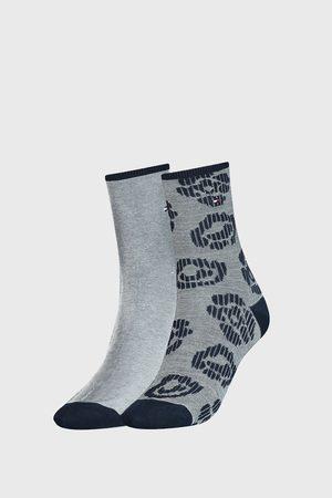 Tommy Hilfiger 2 PACK dámských modrých ponožek Flower