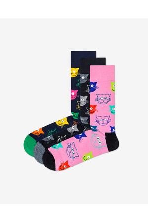 Happy Socks Cat Gift Box Ponožky 3 páry