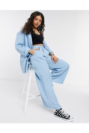 Monki Grace suit co-ord relaxed fit blazer in blue