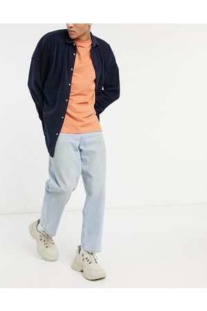 ASOS Barrel jeans in vintage light wash blue