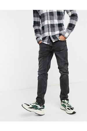 Only & Sons Slim fit distressed jeans in washed black