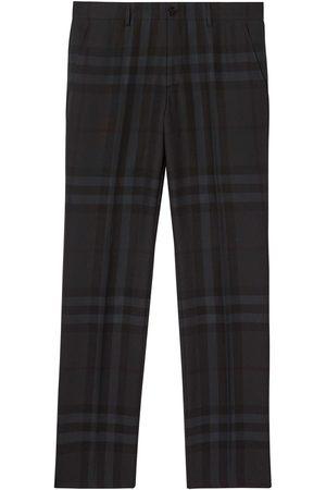 Burberry Muži Společenské - Check-pattern tailored trousers