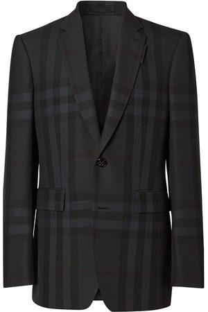 Burberry Single-breasted check blazer