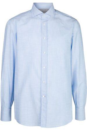 Brunello Cucinelli Muži S dlouhým rukávem - Plain long-sleeved shirt