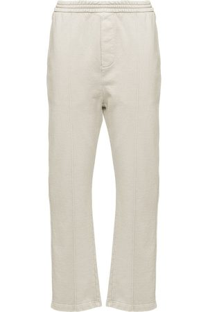 Prada Elasticated-waist straight-leg trousers