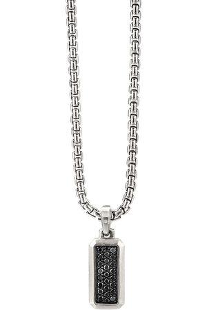 David Yurman Sterling silver diamond pendant