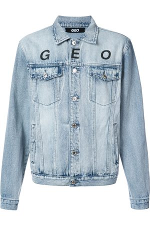 Geo Muži Džínové bundy - Globe marble denim jacket