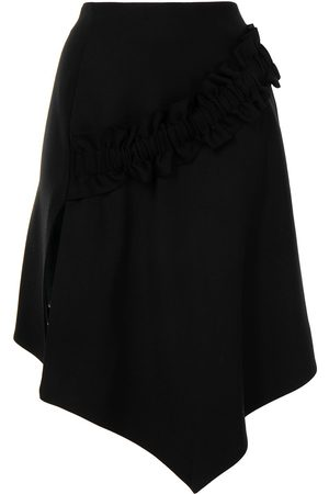 OFF-WHITE Ženy Asymetrické - Gathered detail asymmetric skirt