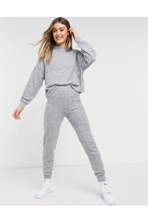 New Look Ženy Tepláky - Knitted jogger co-ord in grey