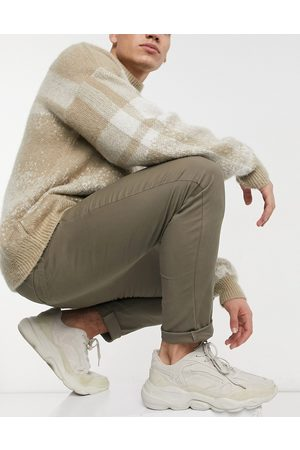 ASOS Super skinny chinos in ankle length in brown