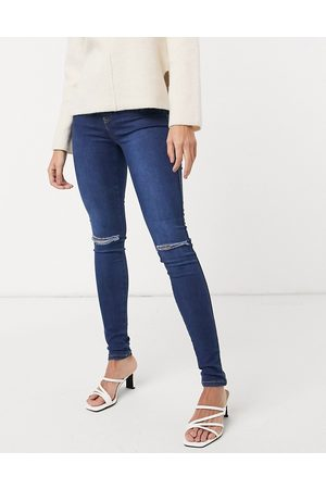 Dr Denim Plenty skinny jeans with ripped knee in blue