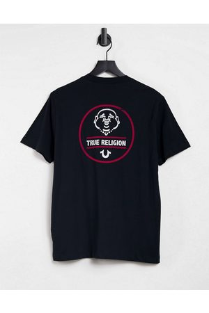 True Religion T-shirt in black with back print logo